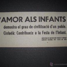 Militaria: L´AMOR ALS INFANTS ....-PASQUIN 11 X 25 CM. Lote 51025060