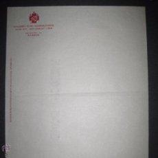 Militaria: GUERRA CIVIL- SOCORRO ROJO INTERNACIONAL MADRID - PAPEL DE CARTA 21 X 27 CM .. Lote 51025541