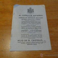 Militaria: CATALOGO ORIGINAL DE CASTELLS, DE MEDALLAS, INSIGNIAS... ANTIGUO, DE JUSTO DESPUES GUERRA CIVIL. Lote 51464884