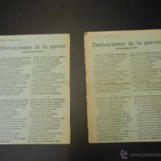 Militaria: GUERRA CIVIL - PROPAGANDISTICO DEL GOBIERNO REPUBLICANO - DERIVACIONES DE LA GUERRA - 1ª Y 2ª PARTE. Lote 51524028
