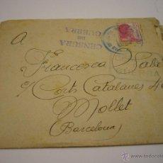 Militaria: CENSURA MILITAR CARTA 20-07-1938. Lote 51779917