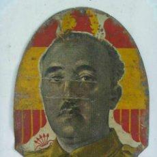 Militaria: GUERRA CIVIL : CHAPA DE METAL DE FRANCO , CAUDILLO . 10 X 14 CM ... Lote 51966280