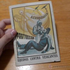 Militaria: ANTIGUO LIBRITO DE AVIACION MILITAR REPUBLICANA - AEROQUIMICA. BARCELONA 1938. GUERRA CIVIL. Lote 52301528