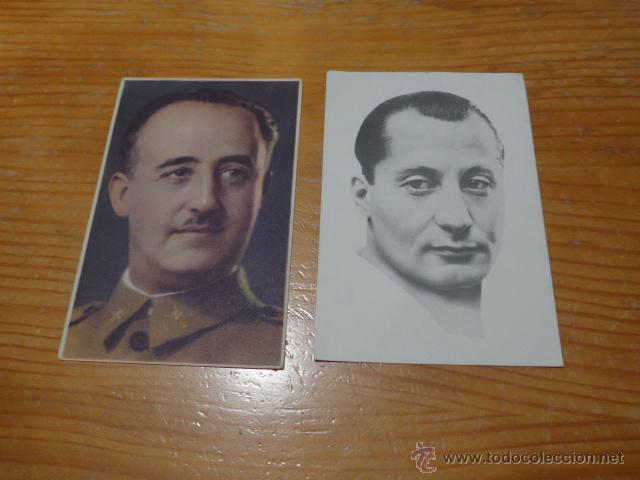 LOTE 2 POSTAL, FRANCO Y JOSE ANTONIO, FALANGE (Militar - Guerra Civil Española)