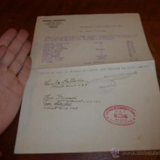 Militaria: ANTIGUO DOCUMENTO DE BARCELONA, UGT 1936, GUERRA CIVIL. Lote 52419751