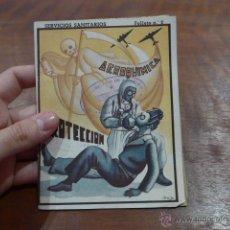 Militaria: ANTIGUO LIBRITO DE AVIACION MILITAR REPUBLICANA - AEROQUIMICA. BARCELONA 1938. GUERRA CIVIL. Lote 52419772