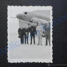 Militaria: FOTOGRAFÍA ANTIGUA ORIGINAL. GUERRA CIVIL. AVIÓN CAPITÁN VARA DE REY (5 X 6 CM) . Lote 53561924
