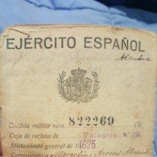 Militaria: EJERCITO ESPAÑOL, CARTILLA MILITAR, FECHAS DE REPUBLICA, GUERRA CIVIL... VALENCIA, MUCHOS CUÑOS. Lote 53567832