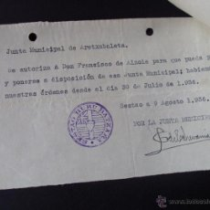 Militaria: LOTE DOCUMENTOS GUERRA CIVIL REPUBLICANO, UGT, CNT, REPUBLICA, VIZCAYA. Lote 54163508
