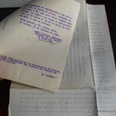 Militaria: 1937-1939 GUERRA CIVIL REQUISA LOCAL PARA PARQUE DE SANIDAD MILITAR EN LA CORUÑA. Lote 54855040