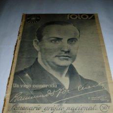 Militaria: REVISTA ANTIGUA DEL 6 NOVIEMBRE 1937, FRENTE DE ARAGÓN, FRANCO EN UN DISCURSO A LOS LEGIONARIOS. Lote 55122998