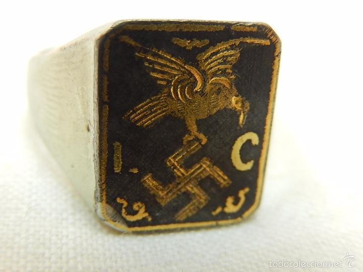 Militaria: Guerra Civil Española. Legión Cóndor. Anillo original. - Foto 4 - 27460026
