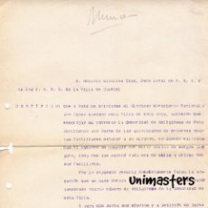 Militaria: CAUDIEL CASTELLON GUERRA CIVIL JEFATURA LOCAL DOCUMENTO INTERESANTE. Lote 56598293