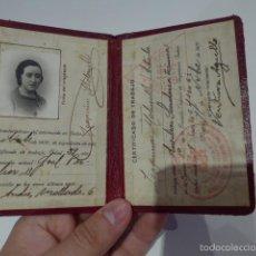 Militaria: CARNET REPUBLICANO DE MUJER DE LA ESCUELA DE INGENIEROS DE 1937, GUERRA CIVIL. Lote 56620797