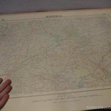 Militaria: ANTIGUO MAPA DE MUNIESA DE 1935, TIPO GUERRA CIVIL. Lote 56641407