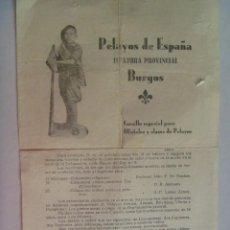 Militaria: GUERRA CIVIL - CARLISMO - REQUETÉ : PASQUIN DE PELAYOS DE BURGOS, 1937, DETRAS ORIAMENDI. Lote 56973803
