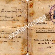 Militaria: SEVILLA SALVOCONDUCTO 1939 ESTADO MAYOR II REGION MILITAR EDIFIL 830 Y MARCAS ESTADO MAYOR. Lote 57200895