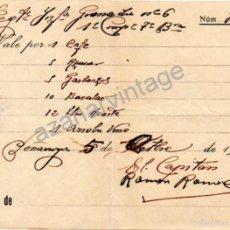 Militaria: PEÑARROYA, CORDOBA,1937, GUERRA CIVIL, VALE COMESTIBLES REG.INFANTERIA GRANADA Nº6. Lote 57724527