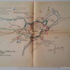 Militaria: LOTE DE 7 ANTIGUOS MAPAS PLANOS - GUERRA CIVIL - 1937 - SECTORES. Lote 57950591