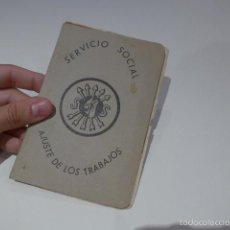 Militaria: ANTIGUA LIBRETA DE SERVICIO SOCIAL DE FALANGE, DE PAMPLONA, 1939, GUERRA CIVIL. Lote 57982059
