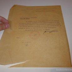 Militaria: ANTIGUO DOCUMENTO DE COMITE CONTROL CNT UGT, BARCELONA, 1937, GUERRA CIVIL. Lote 58102820