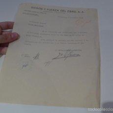 Militaria: ANTIGUO DOCUMENTO DE COMITE CONTROL CNT UGT, BARCELONA, 1936, GUERRA CIVIL. Lote 58102829
