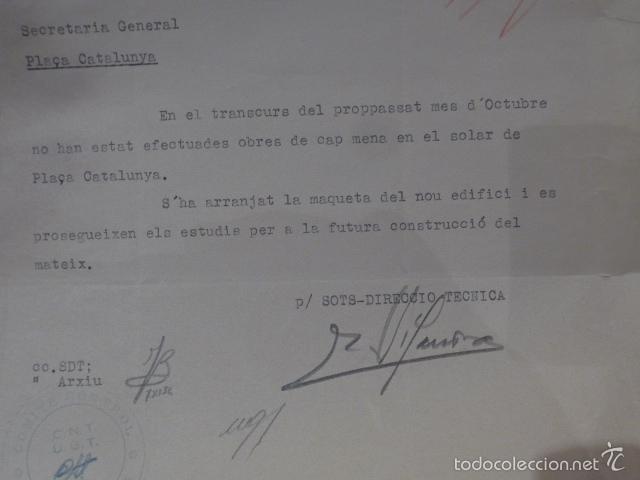 Militaria: Antiguo documento de comite control CNT UGT, barcelona, 1936, guerra civil - Foto 3 - 58102829