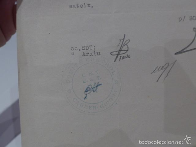 Militaria: Antiguo documento de comite control CNT UGT, barcelona, 1936, guerra civil - Foto 4 - 58102829