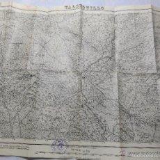 Militaria: MAPA DE MANDO DE LA GUERRA CIVIL, ZONA DE VALSEQUILLO. SELLO DEL CUARTEL GENERAL DEL GENERALÍSIMO.3. Lote 58503930