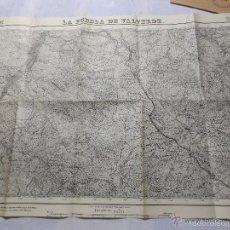 Militaria: MAPA DE MANDO DE LA GUERRA CIVIL, ZONA DE LA PUEBLA DE VALVERDE. SELLO CUARTEL GNRAL DEL GENERALÍSMO. Lote 58503955