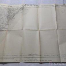 Militaria: MAPA DE MANDO DE LA GUERRA CIVIL, ZONA DE HOSPITALET. SELLO CUARTEL GENERAL DEL GENERALÍSIMO.3. Lote 58503962