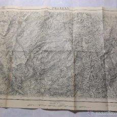 Militaria: MAPA DE MANDO DE LA GUERRA CIVIL, ZONA DE FORCALL. SELLO DEL CUARTEL GENERAL DEL GENERALÍSIMO.. Lote 58503972