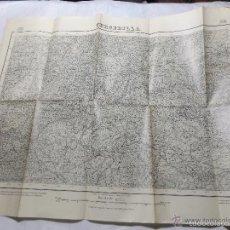 Militaria: MAPA DE MANDO DE LA GUERRA CIVIL, ZONA DE CERCEDILLA. SELLO CUARTEL GENERAL DEL GENERALÍSIMO . Lote 58503983