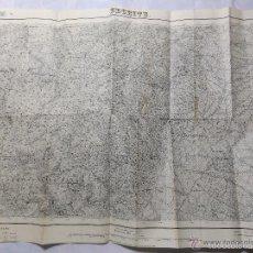 Militaria: MAPA DE MANDO DE LA GUERRA CIVIL, ZONA DE BECEITE. SELLO DEL CUARTEL GENERAL DEL GENERALÍSIMO. . Lote 58503997