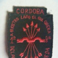 Militaria: GUERRA CIVIL : PARCHE ( ¡ ORIGINAL !) DE LA 1º BATALLON DE FALANGE DE CORDOBA. Lote 60613939