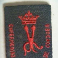 Militaria: GUERRA CIVIL : PARCHE ( ¡ ORIGINAL !) DE ENFERMERA DE FALANGE DEL FRENTE DE CORDOBA. Lote 60616495