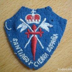 Militaria: CABALLERÍA: PARCHE DE BRAZO BORDADO, SANTIAGO Y CIERRA ESPAÑA. GUERRA CIVIL, EMBLEMA HOMBRO, ESCUDO.. Lote 63773547