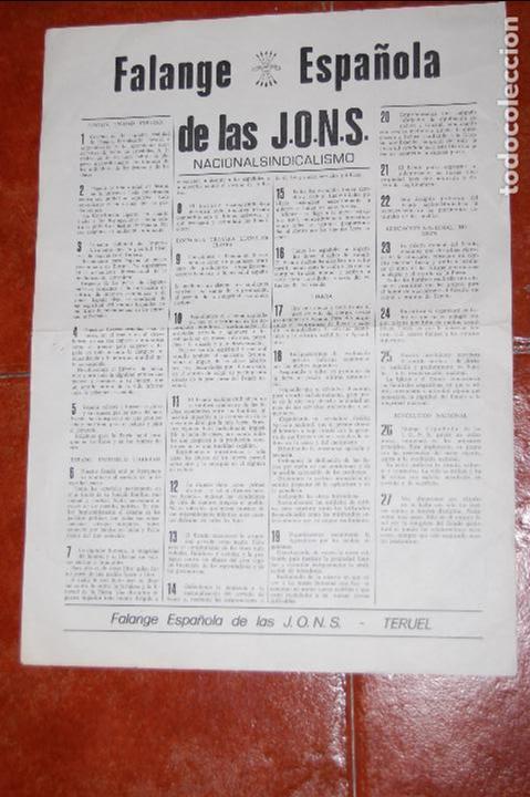 FALANGE , TERUEL , GUERRA CIVIL (Militar - Guerra Civil Española)