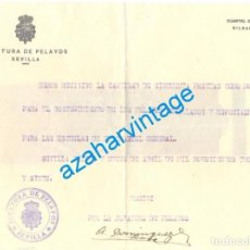 Militaria: SEVILLA,1937, GUERRA CIVIL, CARLISMO, DONATIVO A LA JEFATURA DE PELAYOS, RARISIMO DOCUMENTO. Lote 65986586
