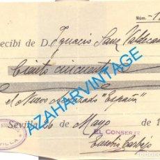 Militaria: SEVILLA, 1937, GUERRA CIVIL, DONATIVO PARA EL NUEVO ACORAZADO ESPAÑA. Lote 65993122