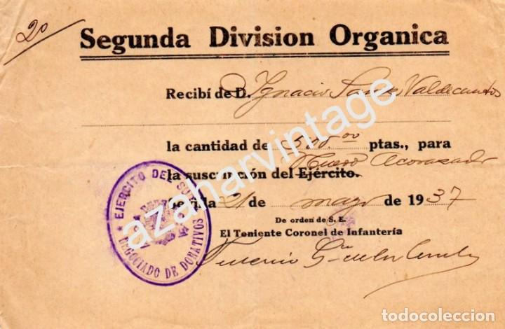SEVILLA,1937,GUERRA CIVIL, SEGUNDA DIVISION ORGANICA, DONATIVO NUEVO ACORAZADO (Militar - Guerra Civil Española)