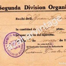 Militaria: SEVILLA,1937,GUERRA CIVIL, SEGUNDA DIVISION ORGANICA, DONATIVO NUEVO ACORAZADO. Lote 66217882