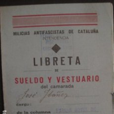 Militaria: MILICIAS ANTIFASCISTAS DE CATALUÑA -PARQUE MOVIL DE REPARACIONES SECTOR BARBASTRO-VER FOTOS( V-7423). Lote 66266934