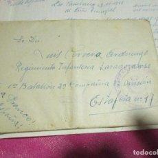 Militaria: CARTA PARA UN SOLDADO EN CAMPAÑA CENSURA MILITAR 1938 ESTAFETA 17 1 BATALLON 2ªCOMPAÑIA 82 DIVISION. Lote 68408001