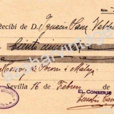 Militaria: SEVILLA, 1937, GUERRA CIVIL, DONATIVO PARA CONVOY DE SOCORRO A MALAGA. Lote 68506377