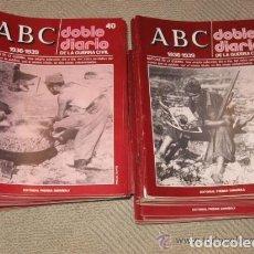 Militaria: ABC DOBLE DIARIO DE LA GUERRA CIVIL. XAVIER TUSELL COLECCIÓN COMPLETA DE 80 FASCÍCULOS. Lote 69691593