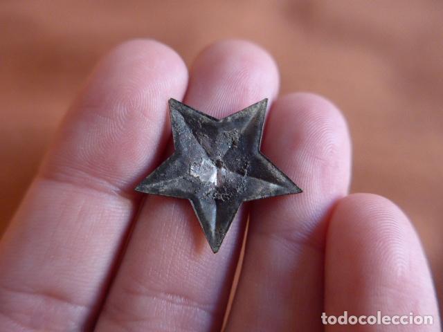 Militaria: Antigua insignia de estrella republicana de guerra civil, original - Foto 2 - 71546075
