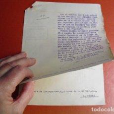 Militaria: OCTUBRE DE 1936 DOS ESCRITOS SOBRE PAGO CONDUCTORES COLUMNA LIBERACION ASTURIAS. Lote 71989987