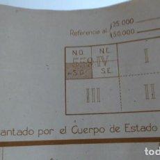 Militaria: ESTADO MAYOR GRAN MAPA MILITAR 1937 FRENTE DE MADRID POZUELO DE ALARCON DIFUSION LIMITADA . Lote 73462859