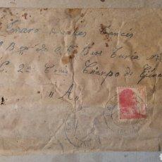 Militaria: CARTA DE BAÑERES ,ALICANTE. GUERRA CIVIL 1938. Lote 78278157